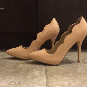 Pink Scallop heels